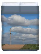 Kansas Country Road With Sky Duvet Cover