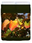 Kansas Fall Leaves Close Up Duvet Cover