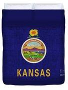 Kansas State Flag Duvet Cover by Pixel Chimp