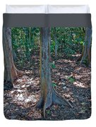Kapok Trees Along The Trail In Manual Antonio National Preserve-costa Rica Duvet Cover