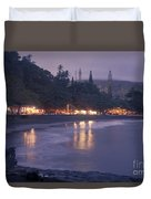 Kapueokahi - Hana Bay - Sunset Hana Maui Hawaii Duvet Cover