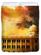 Karachi Port Duvet Cover by Catf