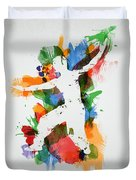 Karate Fighter Duvet Cover by Aged Pixel