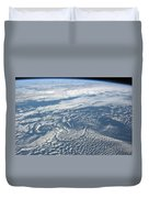 Karman Vortex Cloud Streets From Space Duvet Cover
