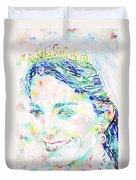 Kate Middleton Portrait.2 Duvet Cover