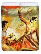 Kathak Dancer Duvet Cover
