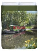 Kathleen May Chesterfield Canal Nottinghamshire Duvet Cover