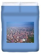 Kathmandu From The Airplane-nepal  Duvet Cover