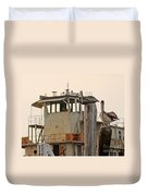 Katrina Ghost Boat And Pelicans Duvet Cover