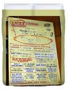 Katz's Catering Duvet Cover