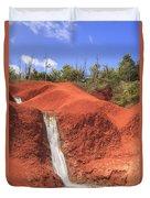 Kauai Red Dirt Waterfall Duvet Cover