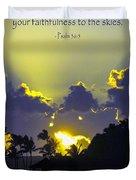 Kauai Sunset Psalm 36 5 Duvet Cover