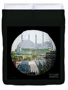 Kauffman Center For The Performing Arts Square Baseball Duvet Cover by Andee Design