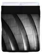Kauffman Performing Arts Center Black And White Duvet Cover