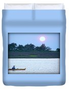 Kayak Fishing 1 Duvet Cover