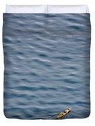 Kayaking Alone Duvet Cover
