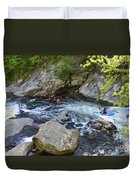 Kayaking Baby Falls Duvet Cover