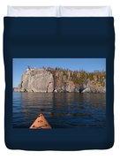 Kayaking Beneath The Light Duvet Cover