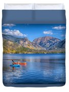 Kayaking Grand Lake Duvet Cover