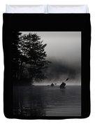 Kayaking In The Fog Duvet Cover