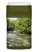 Kayaking On Gull River Duvet Cover
