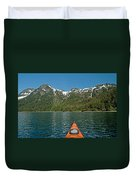 Kayaking Prince William Sound Duvet Cover