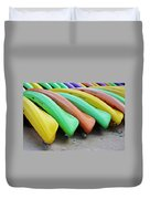 Kayaks In A Row Duvet Cover