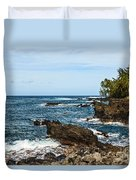 Keanae Coast - The Rugged Volcanic Coast Of The Keanae Peninsula In Maui. Duvet Cover