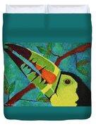 Keel-billed Toucan Duvet Cover
