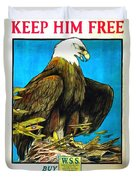 Keep Him Free Duvet Cover