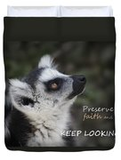 Keep Looking Up Duvet Cover
