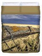 Keep The Gate Post Steady Duvet Cover