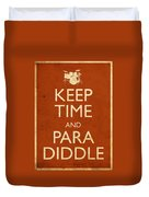 Keep Time And Paradiddle Poster Duvet Cover