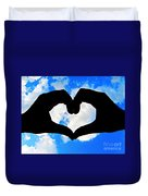 Keep Your Heart In The Clouds Duvet Cover
