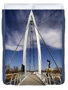 Keeper Of The Plains Bridge View Duvet Cover