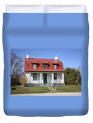 Keeper's House - Presque Isle Light Michigan Duvet Cover