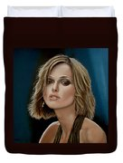 Keira Knightley Duvet Cover by Paul Meijering