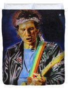Keith Richards Of Rolling Stones Duvet Cover
