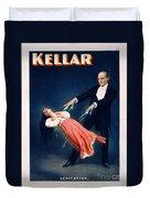 Kellar Levitation Vintage Magic Poster Duvet Cover