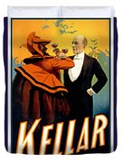 Kellar Toasts The Devil Duvet Cover