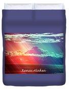 Kenai Alaska Mount Redoubt Duvet Cover