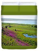Kenai River Outlet On The Cook Inlet In Kenai-ak Duvet Cover