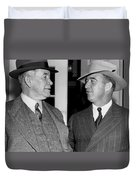 Kentucky Senators Visit Fdr Duvet Cover by Underwood Archives