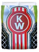 Kenworth Truck Emblem -1196c Duvet Cover