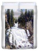 Kepler Cascades Yellowstone National Park Duvet Cover