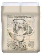 Keplers Universe, 1596 Duvet Cover