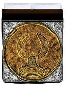 Kerosene Lamp - Brass Etching Duvet Cover
