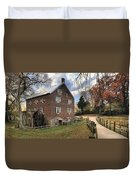 Kerr Grist Mill Panorama Duvet Cover