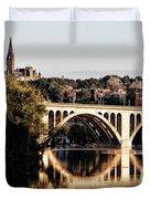 Key Bridge And Georgetown University Washington Dc Duvet Cover