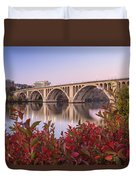 Graceful Feeling - Washington Dc Key Bridge Duvet Cover